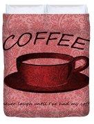 Coffee 2 Scrapbook Duvet Cover