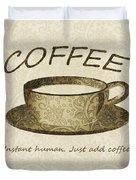 Coffee Cup 3 Scrapbook Duvet Cover