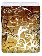 Coffee Flowers 1 Calypso Duvet Cover