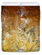 Coffee Flowers 2 Calypso Duvet Cover