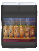 Coffee In The Window Duvet Cover