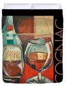 Cognac Poster Duvet Cover