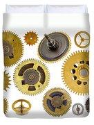 Cogwheels - Gears Duvet Cover by Michal Boubin