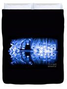 Cold Blue Led Lights Closeup Duvet Cover