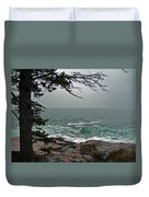Cold Green Surf Duvet Cover by Skip Willits