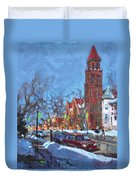 Cold Morning In Elmwood Ave  Duvet Cover