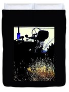 Cold Morning Tractor  Duvet Cover