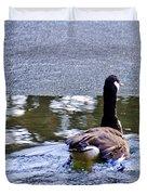 Cold Swim In The Pond Duvet Cover