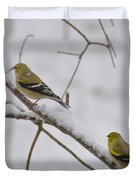 Cold Yellow Finch Walk Duvet Cover