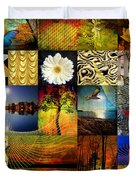Collage Of Colors Duvet Cover