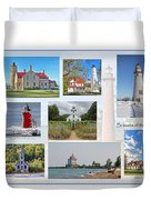 Collection Of Lighthouses Duvet Cover