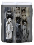 Cologne Cathedral Statues Duvet Cover