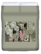 Colonial Cemetery Duvet Cover