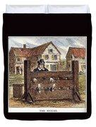 Colonial Stocks Duvet Cover