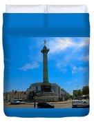 Colonne De Juillet And Opera De Paris Bastille Duvet Cover