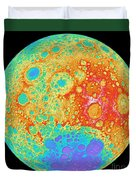 Color Shaded Relief Of The Lunar Duvet Cover
