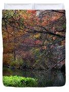 Color Splash In Central Park Duvet Cover