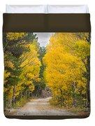 Colorado Autumn Aspen Road Boulder County Duvet Cover