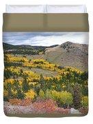 Colorado Autumn Aspens Colors Duvet Cover