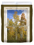 Colorado Autumn Aspens Picture Window View Duvet Cover