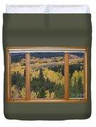 Colorado Autumn Picture Window Frame Art Photos Duvet Cover