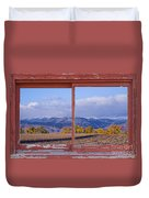 Colorado Country Red Rustic Picture Window Frame Photo Art Duvet Cover