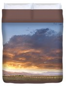 Colorado Evening Light Duvet Cover