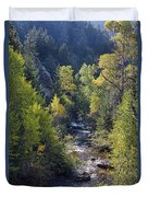 Colorado Left Hand Creek Boulder County Autumn View Duvet Cover
