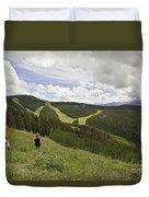 Colorado Mountain Freedom Duvet Cover