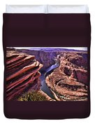 Colorado River At Horseshoe Bend Duvet Cover