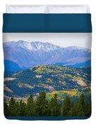 Colorado Rocky Mountain Autumn View Duvet Cover