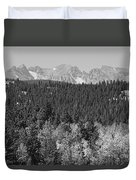 Colorado Rocky Mountain Continental Divide View Bw Duvet Cover