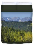 Colorado Rocky Mountain Continental Divide Autumn View Duvet Cover