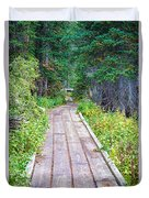 Colorado Rocky Mountain Forest Path Duvet Cover