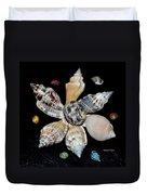 Colored Seashells Duvet Cover