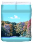 Colored Trees Duvet Cover