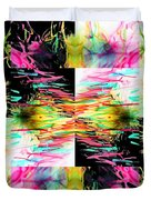 Colored Tubes Duvet Cover