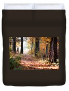Colorful Autumn Landscape Duvet Cover