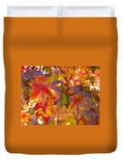 Colorful Autumn Leaves Art Prints Trees Duvet Cover