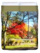 Colorful Autumn Street Duvet Cover