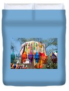 Colorful Banners At Surajkund Mela Duvet Cover
