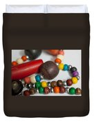 Colorful Beads In Chains Duvet Cover