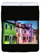 Colorful Burano Italy Duvet Cover