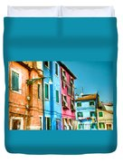 Colorful Burano Duvet Cover
