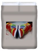 Colorful Clown Shoes Duvet Cover