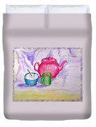 Colorful Coffee Duvet Cover