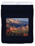 Colorful Colorado Rocky Mountains Planet Art Duvet Cover