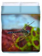 Colorful Dragon Fly Duvet Cover