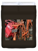 Colorful Dutch Bikes Duvet Cover