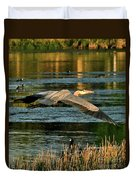 Colorful Evening Flight Duvet Cover